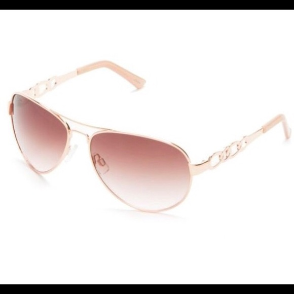 df43e653582e5 Jessica Simpson Accessories - Jessica Simpson Rose Gold chain metal aviators